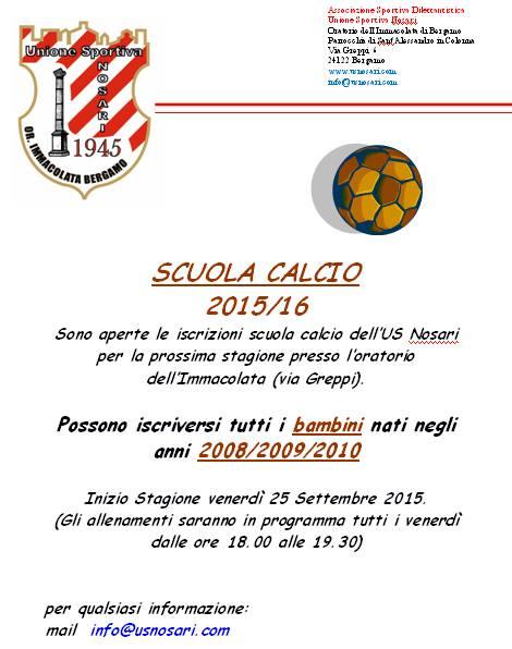 Iscrizione Scuola Calcio 2015/16
